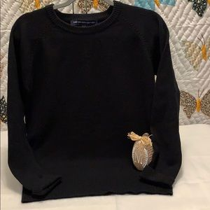 French Connection Black Sweater Sz Large